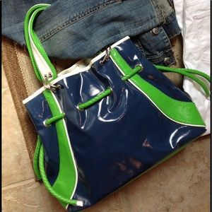 Kate Landry Color Block Patent Bag